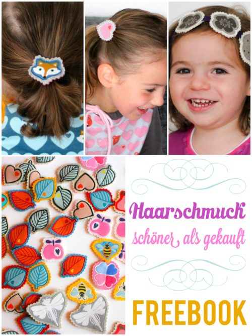 Freebie Filz Haarschmuck Tutorial Freebook MadameBLANC