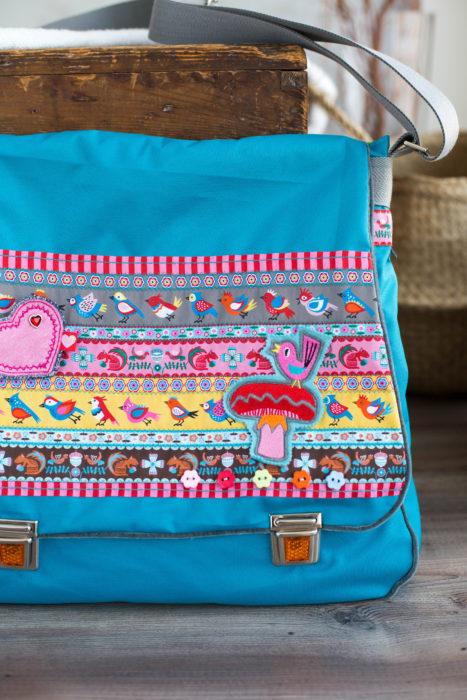 Bube Messenger Bag farbenmix Taschenspieler CD - Schnittmuster Bortenbänder Borten Webbänder Designer Kollektion