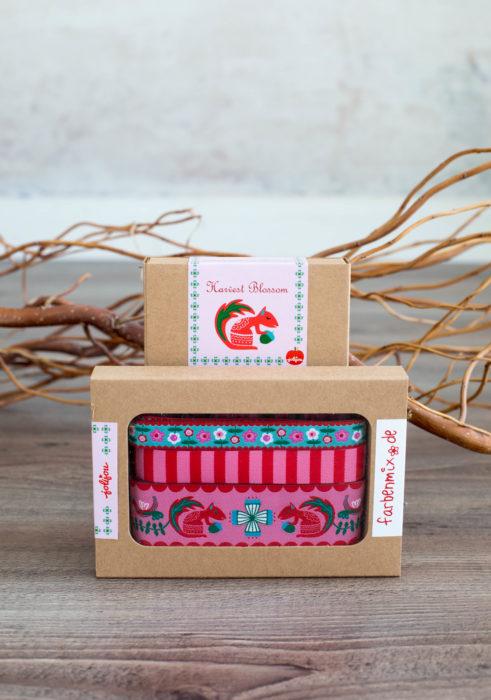 Harvest Blossom pink Designer Kollektion Sortenbänder Farbenmix