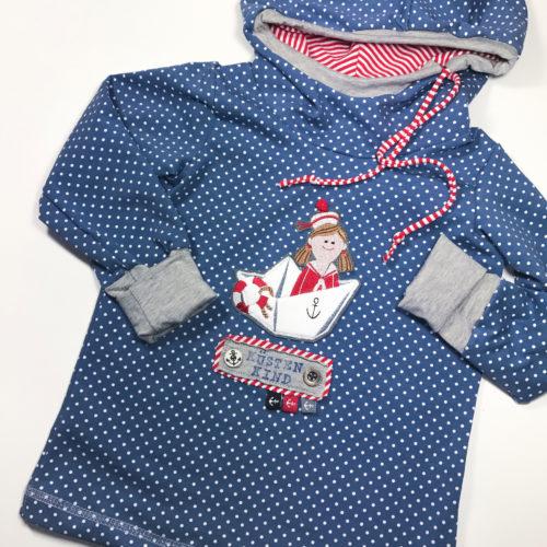 ROSE Papierschnittmuster Kindershirt Schnittmuster - Inspirationsbeispiel Designbeispiel farbenmix maritime Woche