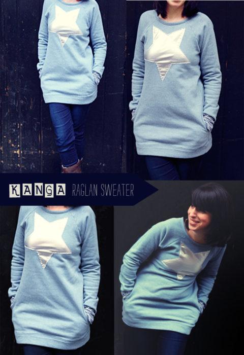 Kanga Sweater Hoodie Schnittmuster Ebook Farbenmix.de - Design Jolijou - raglan Sweater