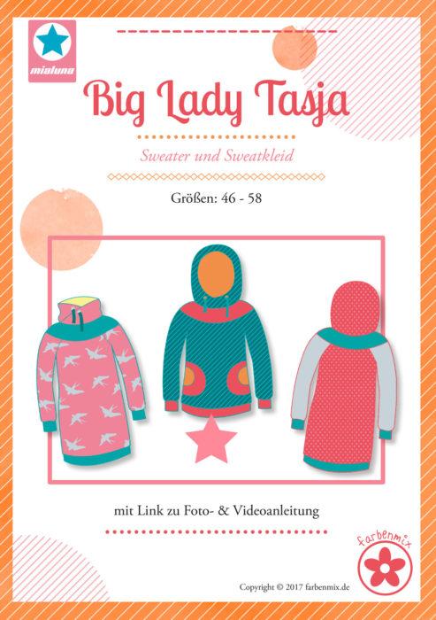 Big Lady Tasja - Papierschnittmuster in den Größen 46-58 Sweater oder Sweatkleid von farbenmix mit Videoanleitung