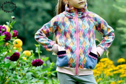 Pablita - als Sweatjacke, Raglanjacke für Mädchen als Papierschnitt farbenmix