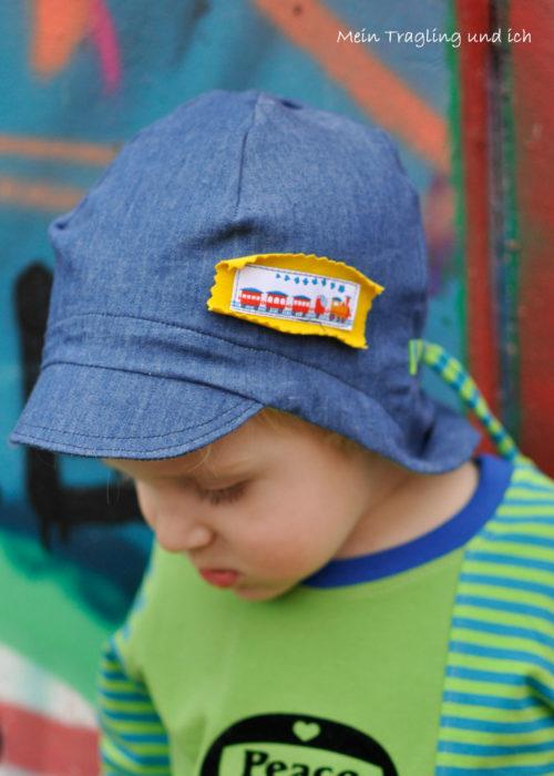 Sommermütze mein Tragling und ich - Ebook Farbenmix - Mütze Sommermütze selber nähen Schnittmuster Anleitung