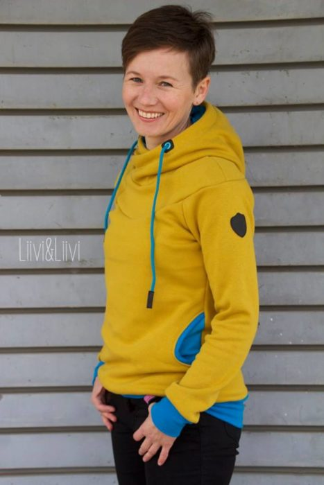 Liivi und Liivi Designbeispiel Mialuna Tasja Sweater Damen Papierschnittmuster