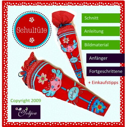Schultüte selber nähen mit Ebook von Farbenmix Schnitt Anleitung und Einkaufstipps