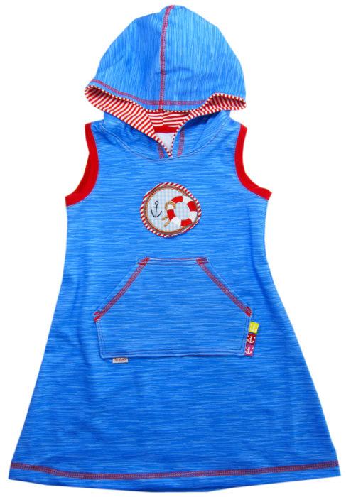 Trägerkleid mit Kapuze Papierschnittmuster über farbenmix - design klimperklein - Kleider aus Jersey nähen Anleitung
