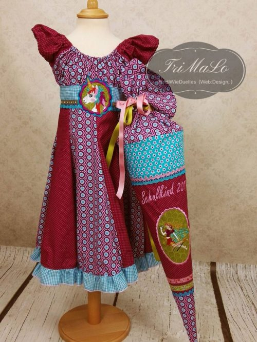 Rund um die Einschulung das Kleid Elodie - Einschulungskleid selber nähen mit Ebook oder Papierschnitt von farbenmix