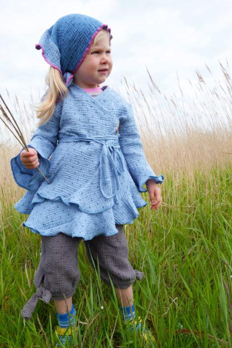 ESI Top aus Musselin luftig leichte Kindermode selber nähen Schnittmuster von Farbenmix