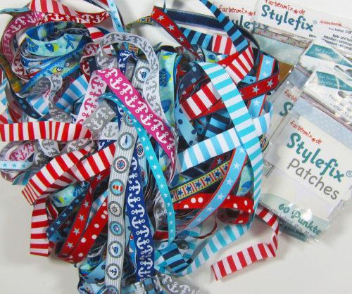 Taschen Sew Along Mai 2017 - Sponsor farbenmix maritimes Webbandpaket Stylefix Stylefix Patches