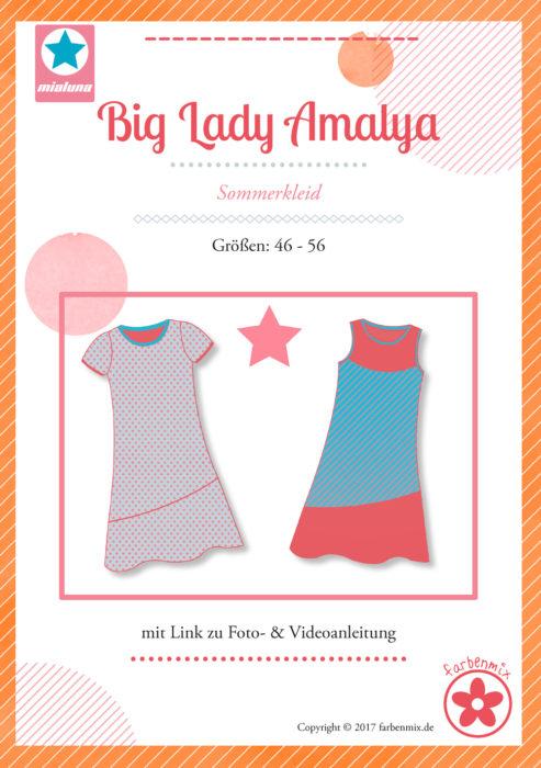 Big Lady Amalya - Papierschnittmuster von Mialuna Sommerkleid erhältlich bei farbenmix