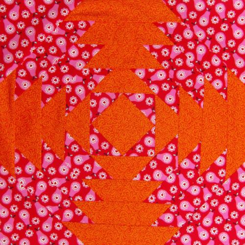 Pineapple Block von Sabine von farbenmix - Juni Beitrag 6 Köpfe 12 Blöcke