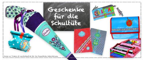 Geschenke für die Schultüte farbenmix Nähen für die Einschulung