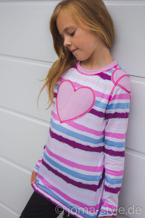 Joma Style Designbeispiel Pattenshirt Tomboy für Mädchen und Jungs von farbenmix
