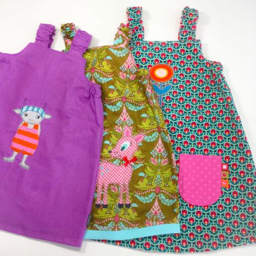 Trägerkleid Madita genäht aus Popeline - hier ein paar schöne Beispiele von Sabine von farbenmix