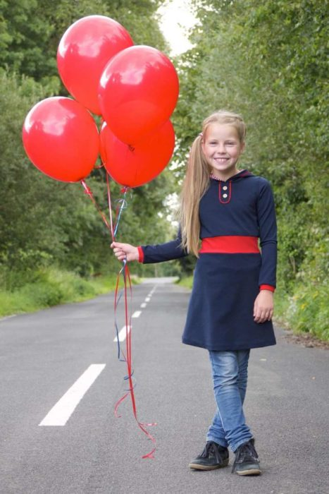 Das Jerseykleid NIKA gibt es jetzt auch als Ebook im farbenmix Shop - Schnittmusterdesign Fusseline