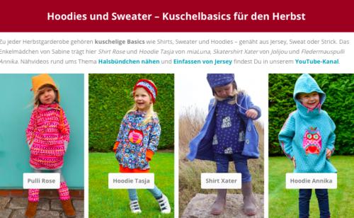 Hoodies und Sweater - tolle Kuschelbasics für den Herbst ..jetzt auf unserer Startseite