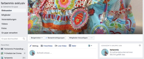die neue farbenmix exklusiv Facebook Gruppe