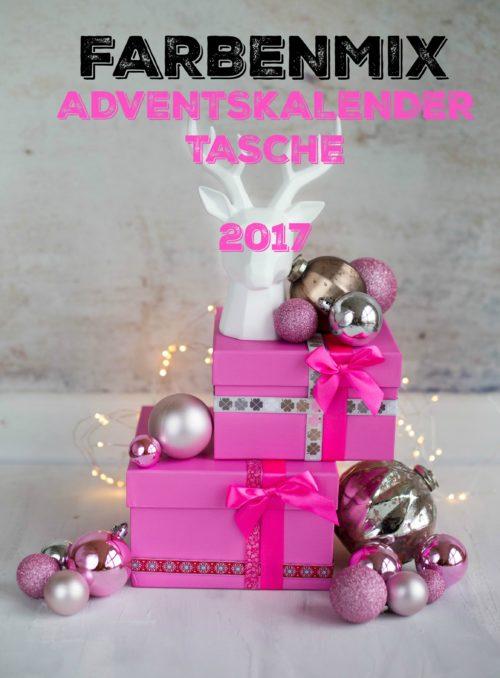 Adventskalendertasche 2017 - Material farbenmix