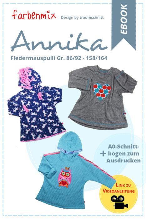 Jetzt zum Einführungspreis: ANNIKA Fledermauspulle - farbenmix Geburtstagswoche