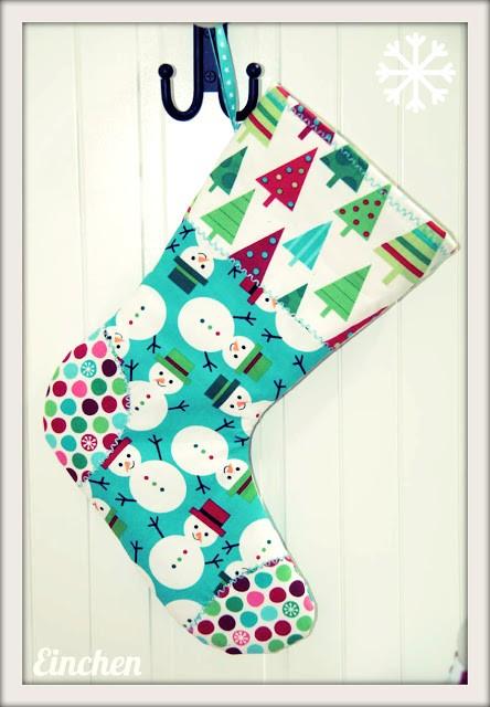 Ein Nikolausstiefel nähen - Nähen für die Weihnachtszeit mit farbenmix