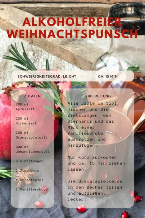 Alkoholfreier Weihnachtspunsch - ein leckeres Rezept heute im farbenmix Adventskalender