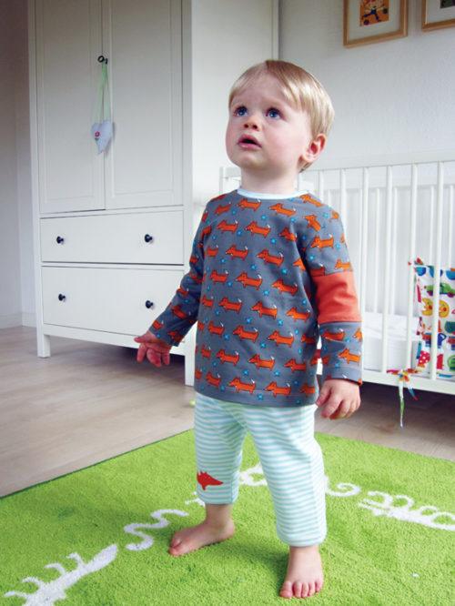 Zwergenverpackung Vol. 2 - Das Shirt - ein von 6 Schnittmustern für Babies - Babykleidung selber nähen mit farbenmix
