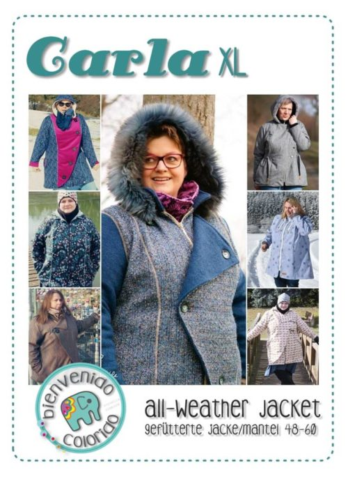 All Wetter Jacke Carla jetzt auch in XL - Jacken nähen in großen Größen bis Größe 60 Schnittmuster bei farbenmix