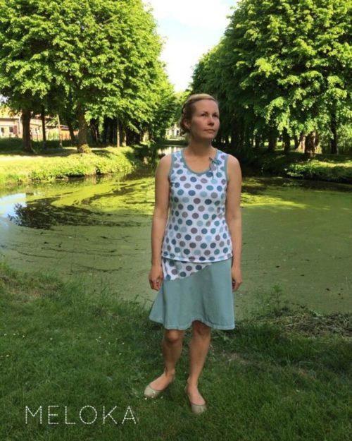 Ein tolles Beispiel für einen selbstgenähten Damenrock - KENYA von mialuna über farbenmix.de