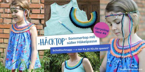 SchnittSchnappderWoche Hacktop - Sommertop mit Häkelpasse