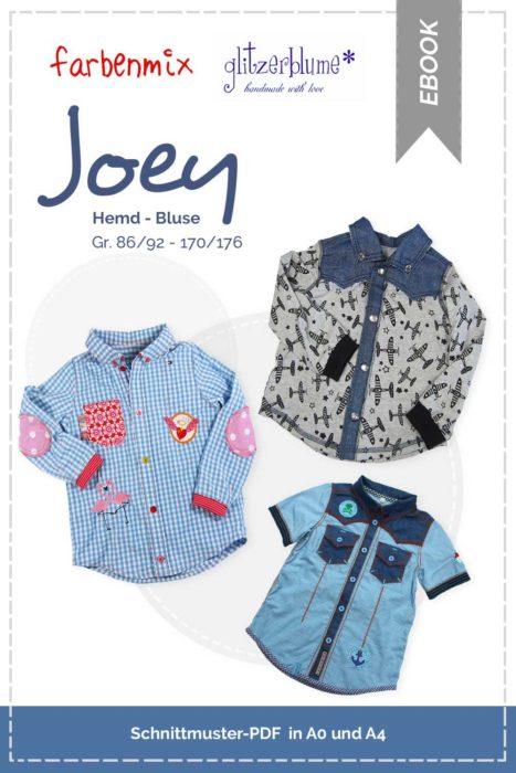 Hemd Schnittmuster Bluse JOEY von farbenmix