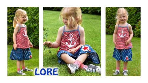 Lore Hosenrock undTop Ebook für Kinder von farbenmix Sommerkombi für Kinder nähen
