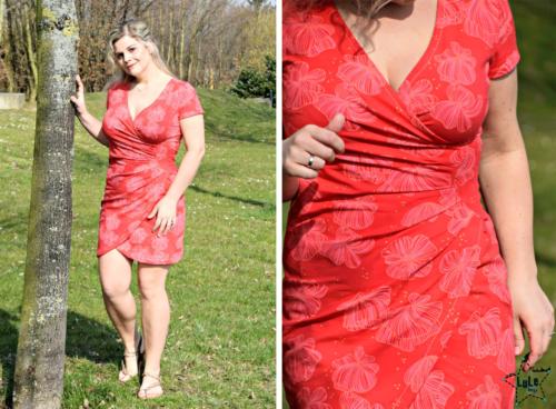 Wickelkleid nähen als Minikleid, Tunikawickelkleid oder langes Wickelkleid mit ALBA von farbenmix