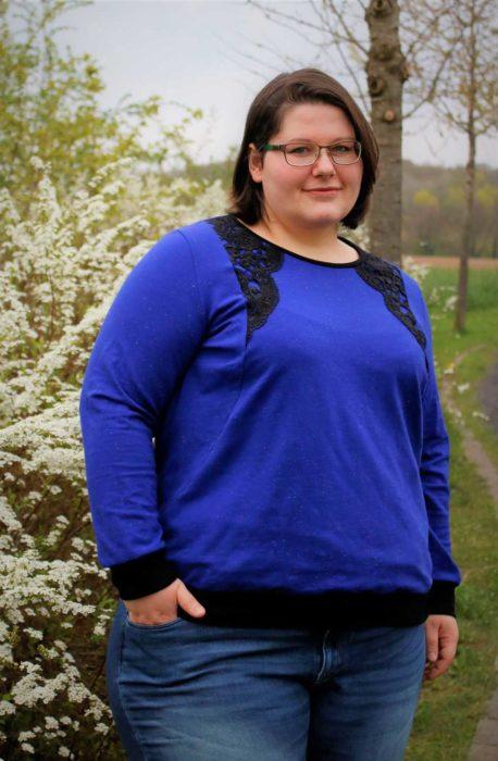 Big lady Ruby - Sweatshirt Basic Schnittmuster Papierschnitt erhältlich bei farbenmix design mialuna
