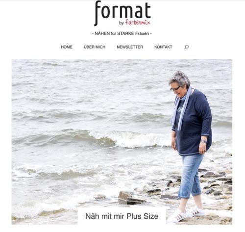format-nähen - eine Plattform rund um das Nähen für starke Frauen