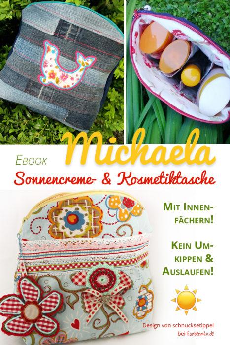 Sonnencremetasche Michaela - praktisches Nähprojekt für den Urlaub nähen -