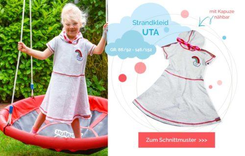 Strandkleid nähen mit dem Ebook UTA von farbenmix. Mit oder ohne Kapuze