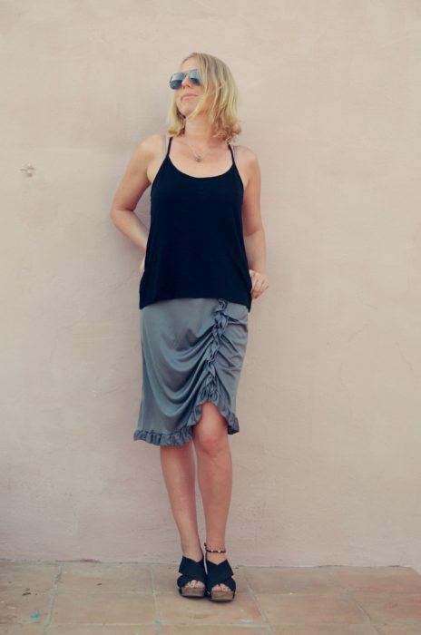 Damenrock nähen im Boho-Look - ein neues Schnittmuster von bienvenido colorido-Raffrock in 3 Längen. Jetzt als Ebook / pdf- Nähanleitung