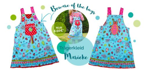 Marieke aus beware of the bugs farbenmix Stoff - Trägerkleid Schnittmuster und Anleitung von farbenmix