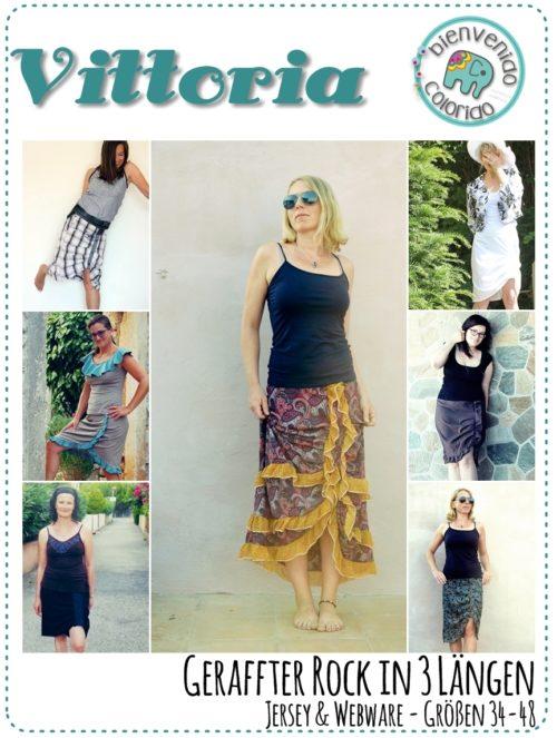 Damenrock nähen im Boh-Look - mit VITTORIA von bienvenido colorido jetzt als pdf- Nähanleitung Ebook