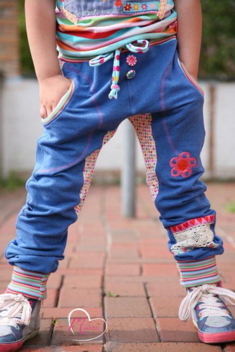 Sweathosen nähen für Kinds mit dem Papierschnittmuster INDIGO von farbenmix