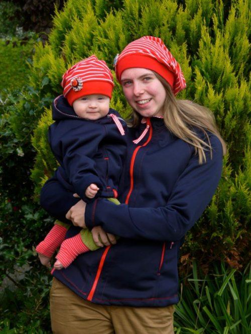 Philippa ein Jackenschnittmuster für Softshell. Softshell und Tipps zur Verarbeitung jetzt bei farbenmix