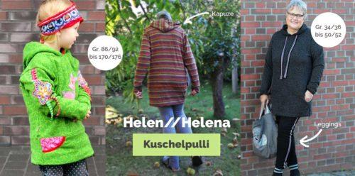 Schnittmuster für einen Longpulli - Bequemer Kuschelpulli nähen für Kinder und Damen