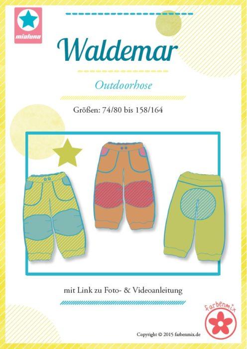 Regenhose oder Outdoorhose nähen mit dem Schnittmuster Waldemar - Design mialuna - erhältlich bei farbenmix