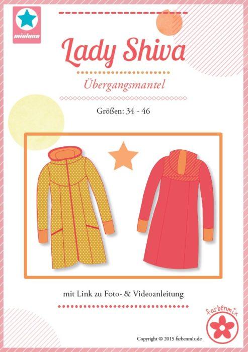 Lady Shiva - Schnittmuster für eine Damenmantel, Regenmantel. erhältlich bei farbenmix