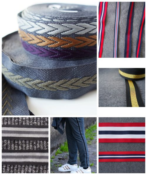 Retrostripes vernähen auf Hosen, Hoodies und Jacken - neu bei farbenmix