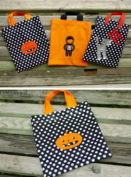 halloween Tasche selber nähen - halloween Kostüm selber machen