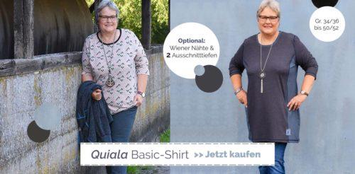 Basic Shirt für Damen - suchst Du ein Schnittmuster , dann wäre vielleicht QUIALA was für dich