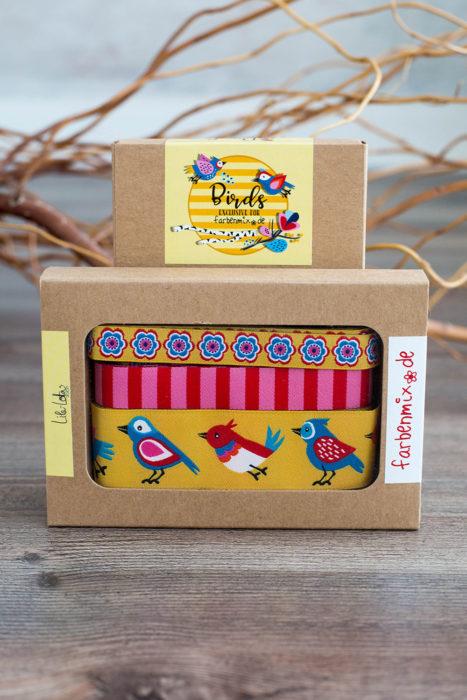 farbenmix Adventskalender 2018 Bortenbänder Lila Lotta in gelb