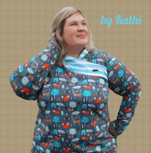 MARA XL Schnittmuster Shirt in Wickeloptik für Damen